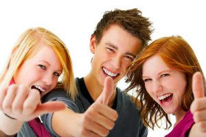 Three Young Teenagers - mit Lernhilfe durch slc LernCoaching zum Erfolg